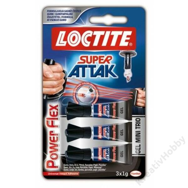 Loctite Minitrio Power Flex gél 3x1g
