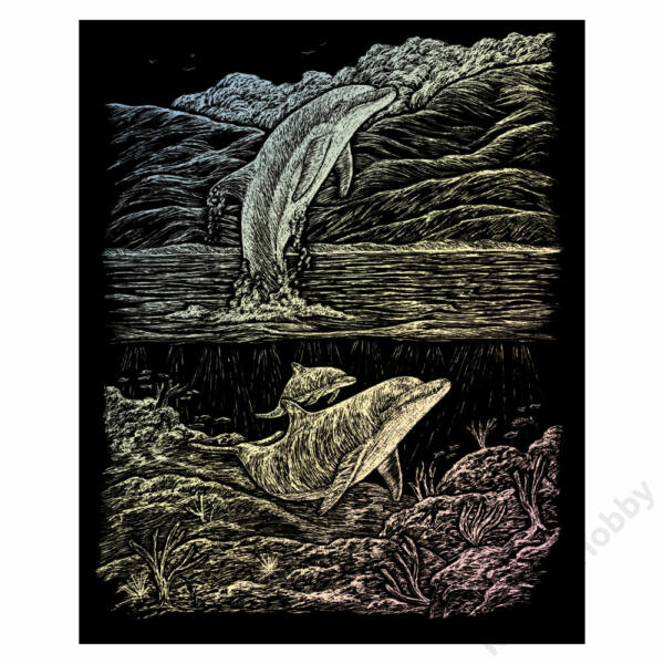 Karckép, holografikus - Delfinek