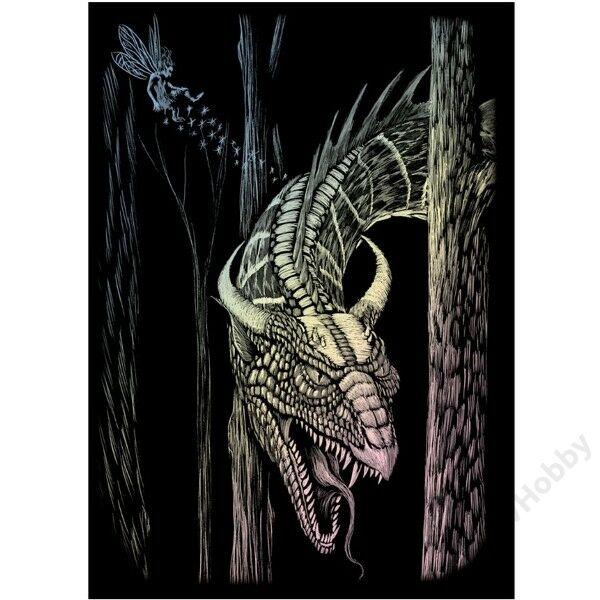 Karckép, mini, holografikus - erdei sárkány