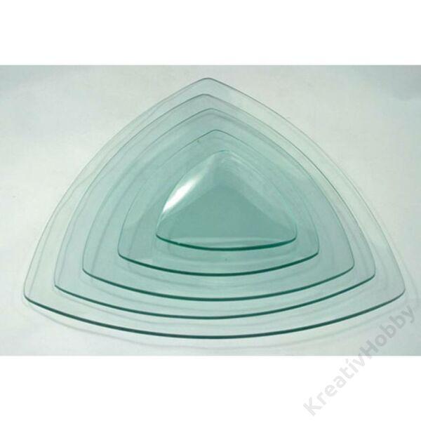 Üvegtál háromszög 19*19cm-es