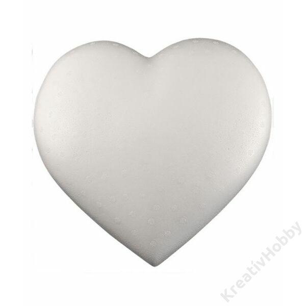 Polisztirol szív 15 cm-es