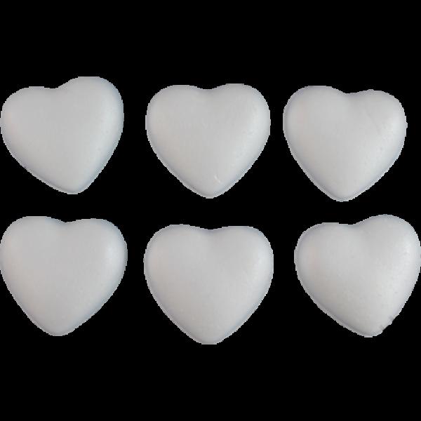 Polisztirol szív 4 cm