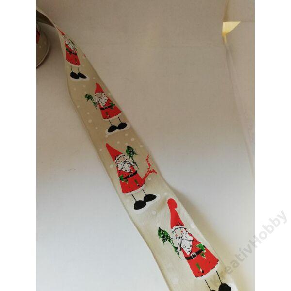 Karácsonyi szalag,télapos 40mm ,2m/tekercs