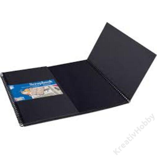 ICO kreatív album, négyszög, 30x30 cm, FEKETE lap