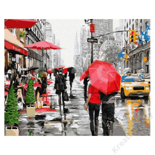 Rain in New York(40x50CM)