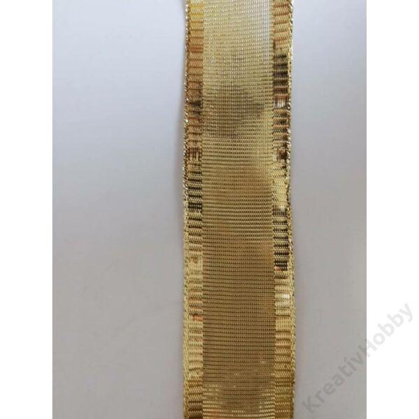 Karácsonyi szalag ,Arany 40mm,2m/tekercs