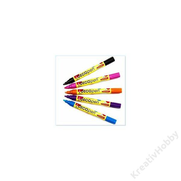 Decopen festékfilctoll 1-2mm sárga 46152