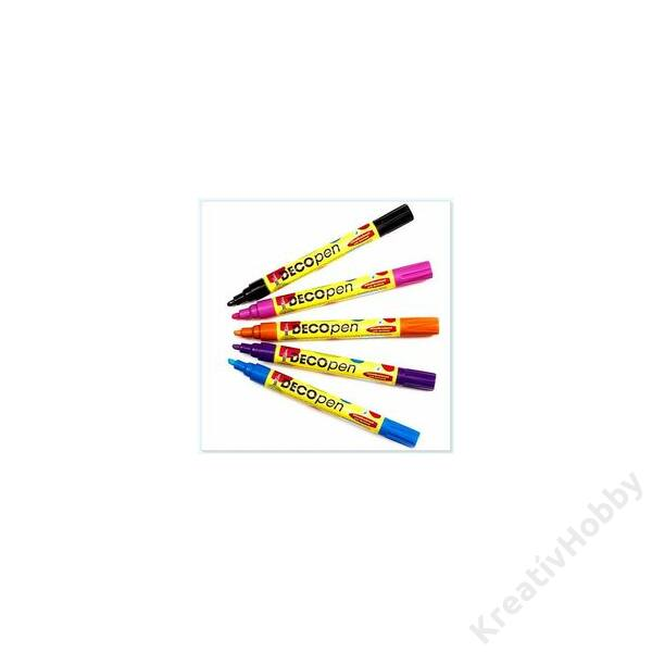 Decopen festékfilctoll 2-4mm sárga