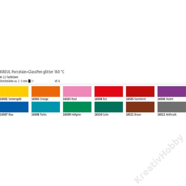 Decopen festékfilctoll, glitteres 1-3mm, Narancs