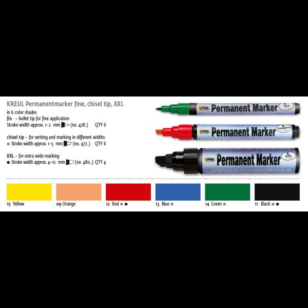 Permanent filctoll medium 1,5-3mm sárga