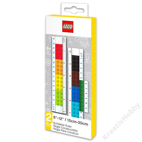 LEGO tetszés szerint építhető vonalzó (15cm/30cm)