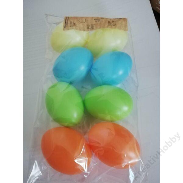 Műanyag tojás 6cm pasztell 8db/cs