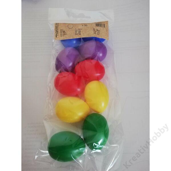 Műanyag tojás ,szines 4,5cm 10db