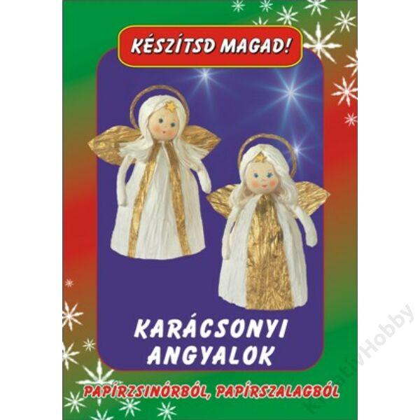 Papírfigurák Karácsonyi angyalok