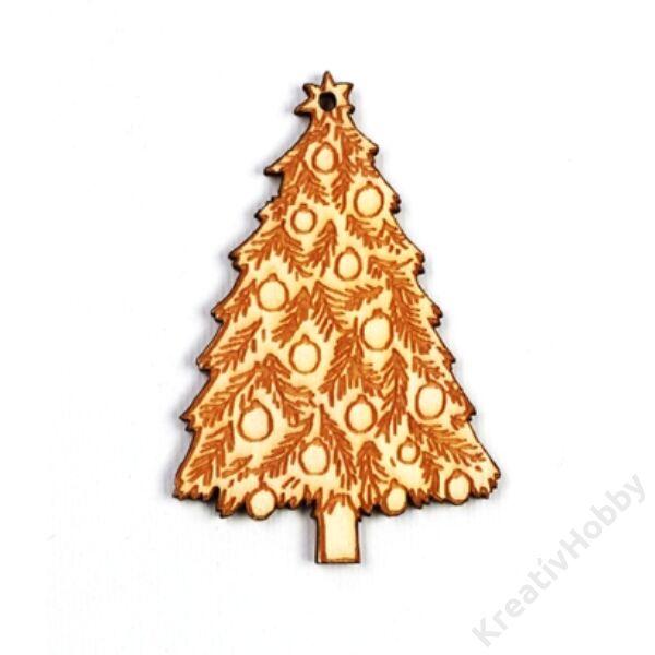 Fadísz,Karácsonyfa 4*6,5cm