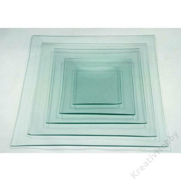 Üvegtál négyszögletes 20*20cm