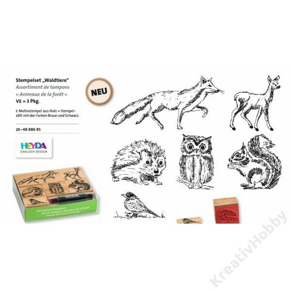 Karácsonyi bélyegzőkészlet, Erdei állatok 6+1