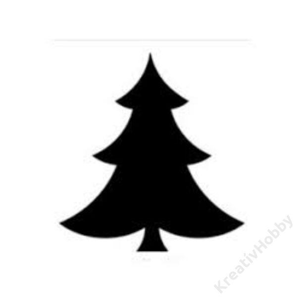 Karácsonyi mintalyukasztó ,Karácsonyfa 25mm
