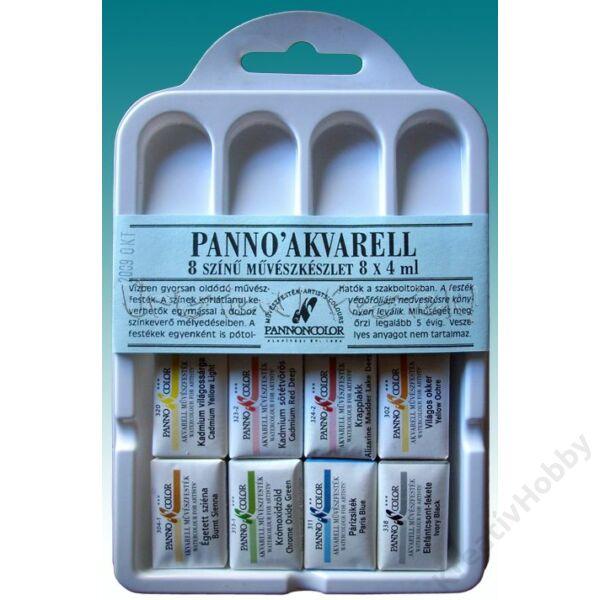 Pannoncolor AKVARELL ISKOLAI klt. 8x2 ml, szilke