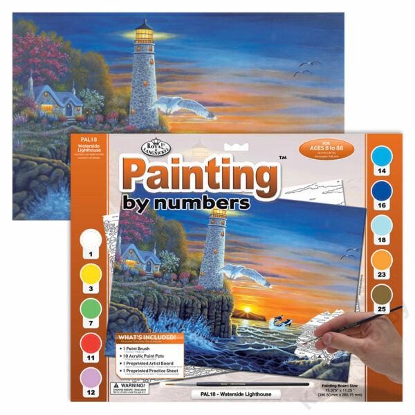 Számozott kifestő - Világítótorony