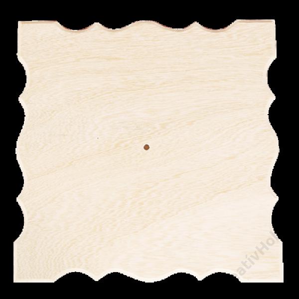 Óralap-négyzet ,hullámos 32x32cm