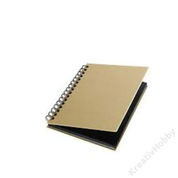Notesz, spirálos, fekete lappal, 26,5x34 cm