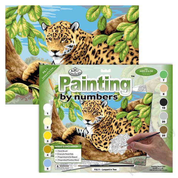Számozott kifestő - Tigris a fán