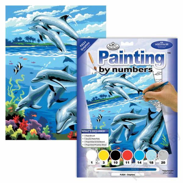 Számozott kifestő, 22,3*298,5mm - Delfinek