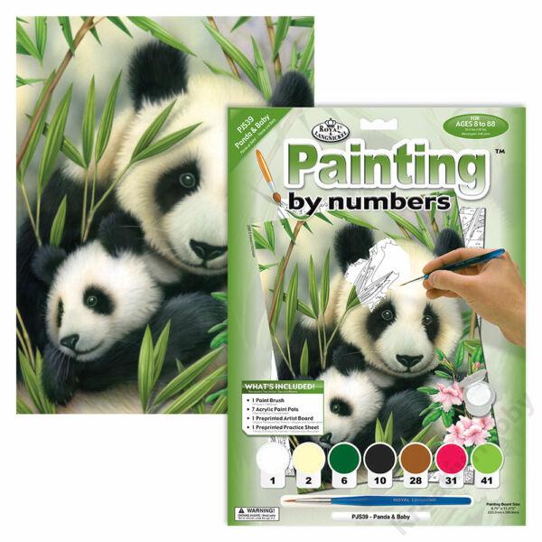 Számozott kifestő, 222,3*298,5mm - Panda Baby