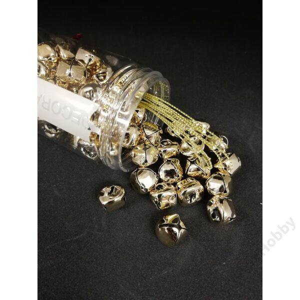 Csengettyűk dobozban,1cm arany 65db/cs