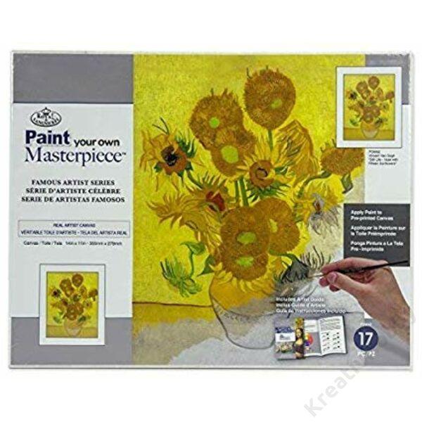 Mester kifestő,Van Gogh: Napraforgók vázában (Feszitett vászon)