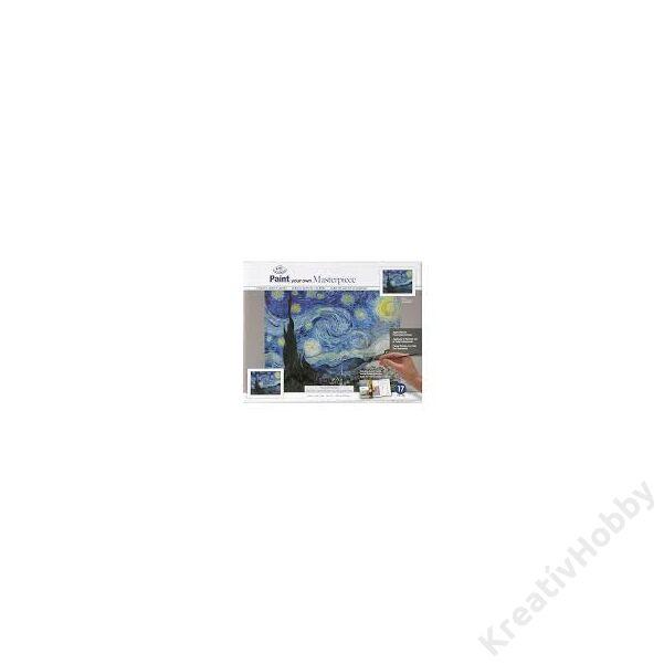 Mester kifestő,Van Gogh: Csillagos éj 355*279mmFeszített vászon