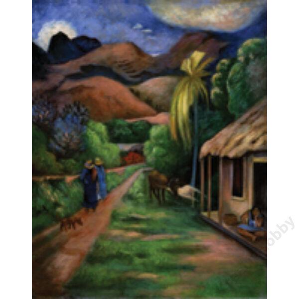 Számozott kifestő - Vidéki táj
