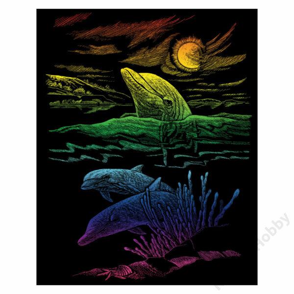 Karckép, szivárványos - Delfin