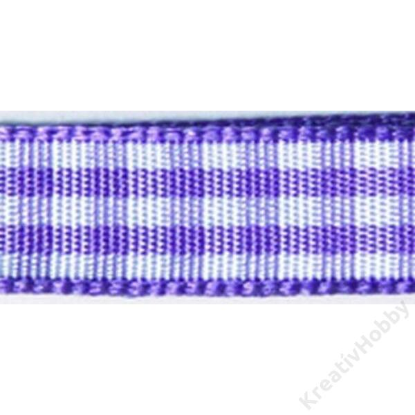Kockás szalag 9,5mm, lila
