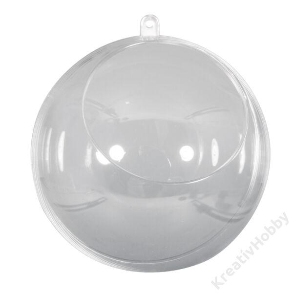 Szétnyitható műanyaggömb körkivágással 8cm