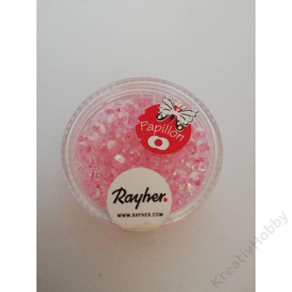 Pillangó gyöngy 3,2*6,5mm 18g piszkos rózsaszín