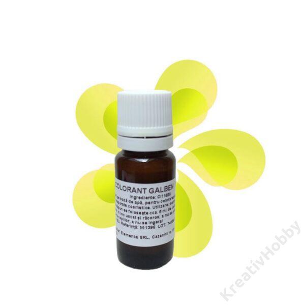 Színező anyag sárga 10 ml