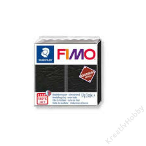 Fimo gyurma, Leather Effect, 57g, fekete
