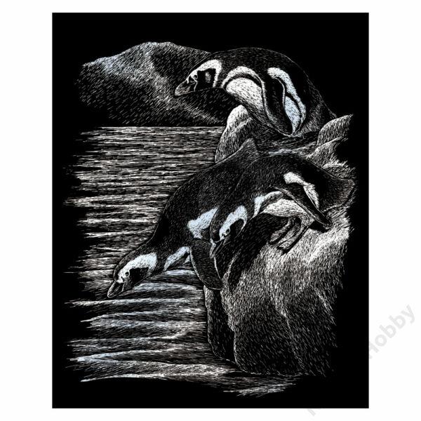 Karckép, ezüst - Pingvinek