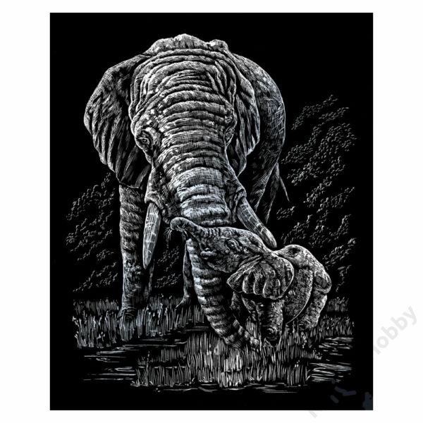 Karckép, ezüst, 203*254mm - Elefánt