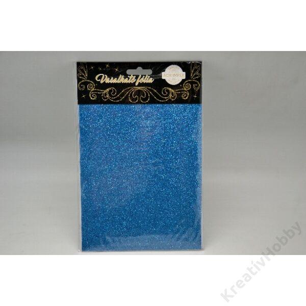Vasalható fólia,glitteres,kék 15*20cm 2db/cs