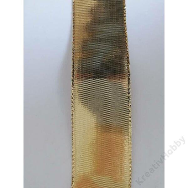 Karácsonyi szalag,arany 40mm ,2m /tekercs