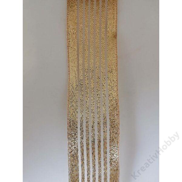Glitteres arany szalag 40mm,2m/tekercs