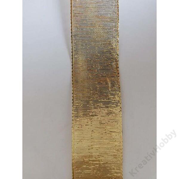Karácsonyi szalag ,arany recés 40mm., 2m/tekercs