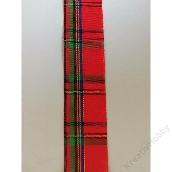 Karácsonyi szalag ,kockás 25mm,3m/tekercs
