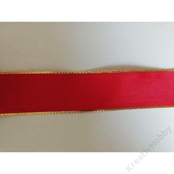 Karácsonyi szalag ,Piros 40mm,2m/tekercs