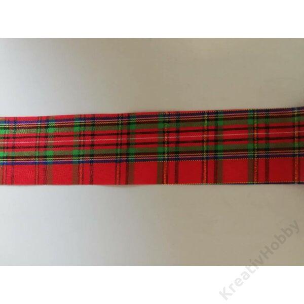 Karácsonyi szalag,kockás 40mm ,2m/tekercs