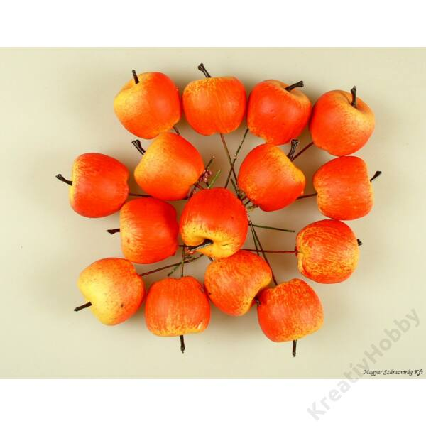 Betűző alma,Sárga-piros kicsi 2,5cm 10Db/cs