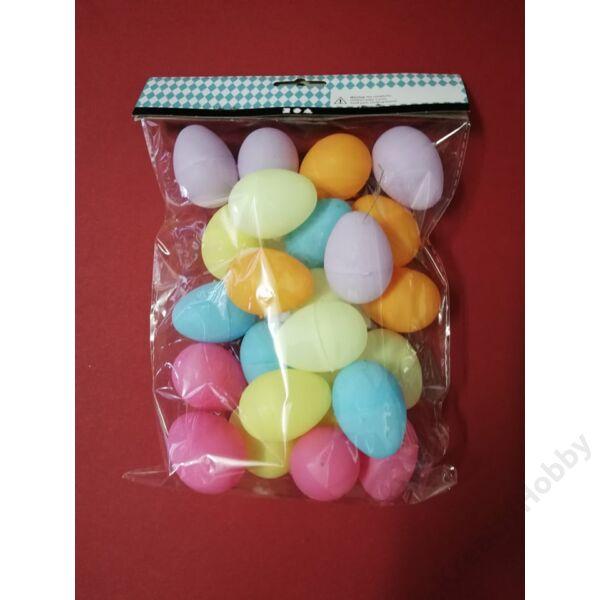 Műanyag tojás szétnyitható, színes 4,5cm, 24db/cs